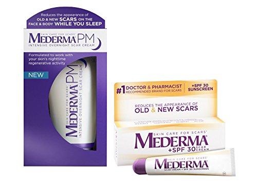 Mederma PM Intensive Overnight Scar Cream Tube & Scar Cream Plus