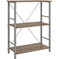 3 Shelf Storage Bookcase in Rustic Oak