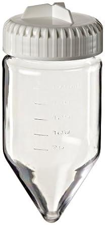 Nalgene 3144-0175 Polycarbonate Conical-Bottom 175mL Centrifuge Bottle with Polypropylene Screw Closure/Silicone Gasket (Pack of 4)