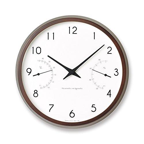 Lemnos タカタレムノス 掛け時計 カンパーニュ エアー Campagne air 温湿度計付 PC17-05 壁掛け時計 ウォールクロック 送料無料 (ブラウン) B073VML5J3ブラウン