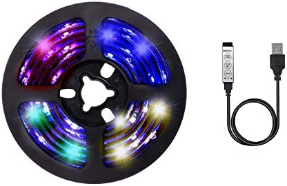 cuzile Fondo televisor USB Powered LED Color Rayas Bias iluminación para TV de pantalla y PC Monitor, RGB Multi Color 50 cm: Amazon.es: Iluminación
