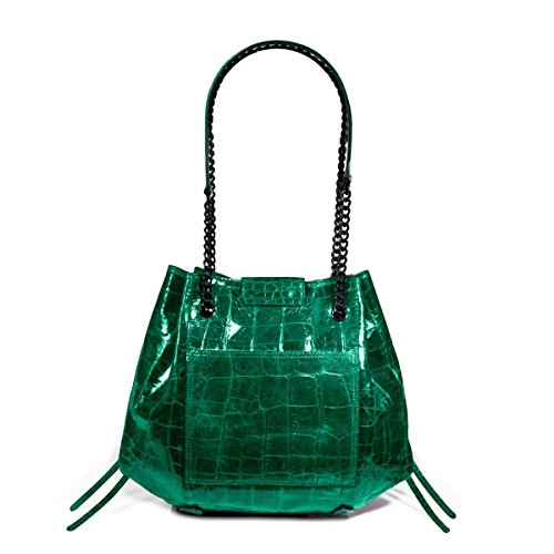 Eric Javits Luxury Fashion Designer Women's Handbag - Lil' Leigh - Emerald by Eric Javits