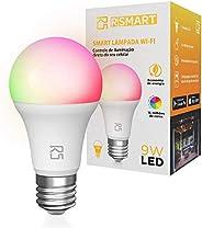 Smart Lâmpada Inteligente RSmart Wi-Fi LED 9W Branco Frio e Quente RGBW Compatível com Alexa