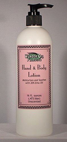 16 fl. ounces 20% Emu Oil Hand and Body Lotion Unscented