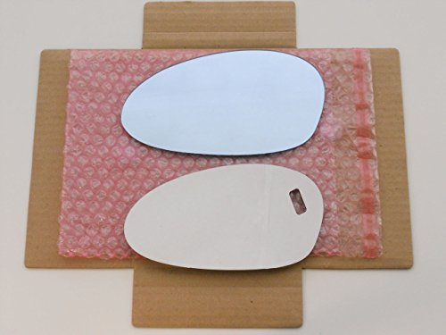 New Replacement REGULAR WHITE (NON-BLUE) Mirror Glass with FULL SIZE ADHESIVE for BMW 1 3 Series M3 Z4 Driver Side View Left LH (M3 Mirror Bmw)