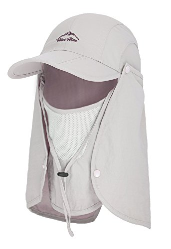 EPYA Outdoors UPF 50+ UV Sun Protection Wind Proof Hat Neck Flap Face (Shield Cap)