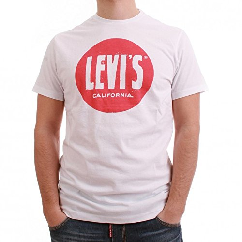 Levis T-Shirt Men - GRAPHIC CREW 65347-0259 - White
