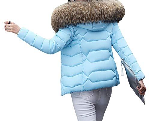 Warm Jacket Mogogo Thickened Pattern5 Fashion Lightweight Hood Short Womens Down Zip zgIIrXq4w