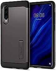 spigen, Funda Compatible con Huawei P30 2019 [Slim Armor] con Kick Stand y Protección híbrida contra caídas para Huawei P30 2019 [Gunmetal]