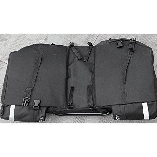 Gazechimp 43L Fahrrad Satteltasche, Doppelte Taschen mit Regenschutz, Praktisch, Groß und Robust