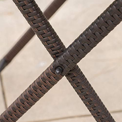 Marinelli Outdoor Multibrown Wicker Bar Table by Christopher Knight Home (Image #5)