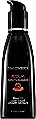 Wicked Sensual Care Aqua Lubricant, Cherry Cordial, 4 Fluid Ounce