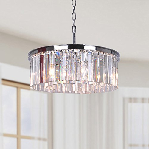 Jojospring Justina 5-light Chandelier with Glass Prisms