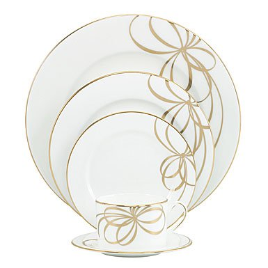 Lenox China kate spade Belle Boulevard Gold 5 Piece Place Setting