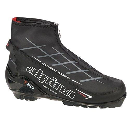 (Alpina T 20 Touring Ski Boot Black/White/Red, 45.0)
