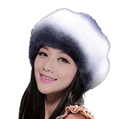 Women's Mink Full Fur Beret Hats (One Size, Multicolor) by Starway0311