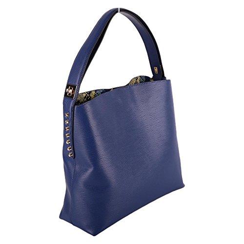 Borsa Donna 75b000319y099999u604 Shopping Trussardi Poliuretano Blu qSdFwxEw