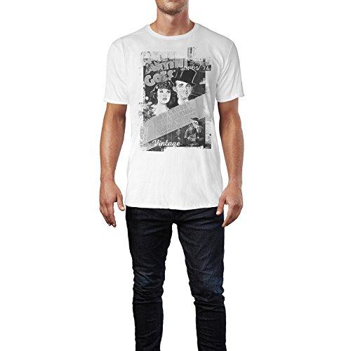SINUS ART® Anything Goes Herren T-Shirts stilvolles weißes Fun Shirt mit tollen Aufdruck