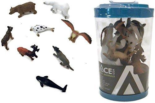 Set Arctic Animal (8 Piece Rubber Alaskan Animal's Toy Set)