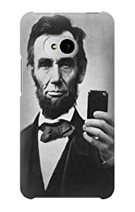 S0041 Abraham Lincoln Case Cover for HTC ONE M7