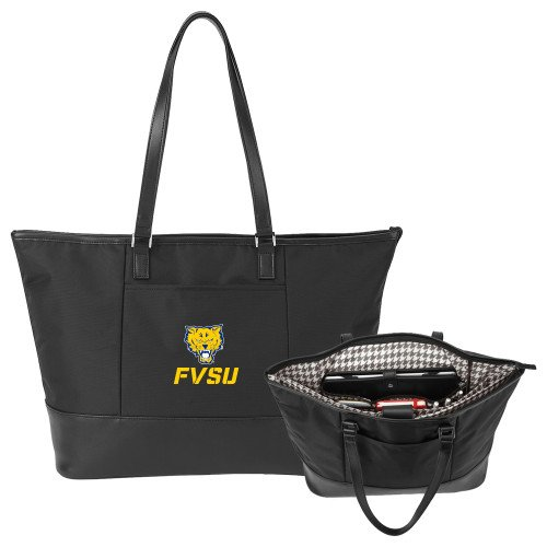 Fort Valley State Stella Black Computer Tote 'Primary Mark' by CollegeFanGear