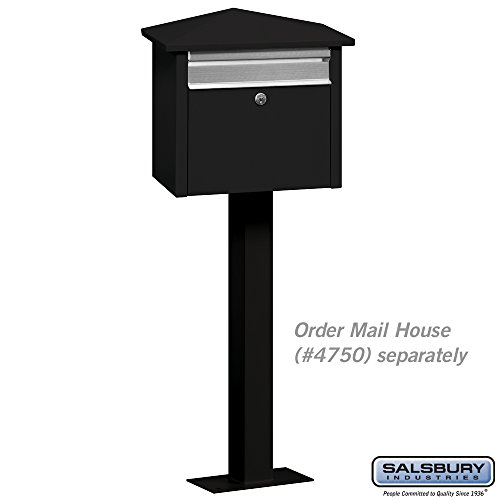 Salsbury Industries 4765BLK Post Bolt Mounted Mail House, Black by Salsbury Industries (Image #1)