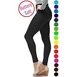 LMB Yoga Leggings Buttery Soft Material - Variety of Colors - Black