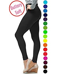Extra Soft Leggings with High Yoga Waist - 20+ Best Selling Colors - Plus