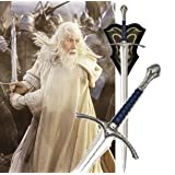 """S4851 Movie Lord of the Rings LoTR Hobbit Glamdring Gandalf sword w/ wall plaque 46"""""""