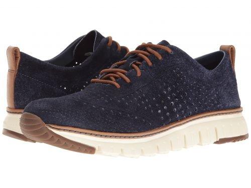 Cole Haan(コールハーン) メンズ 男性用 シューズ 靴 スニーカー 運動靴 Zerogrand Laser Perf Sneaker - Washed Indigo Suede Open/Ivory [並行輸入品] B07BDK5NHB