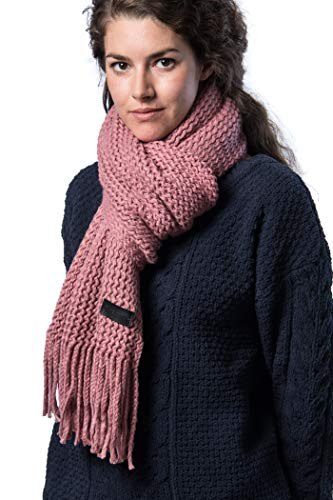(Mio Marino Mens Knitted Scarf - Winter Scarfs for Men - Ribbed Knit Mens Scarves - Pink - onesize)