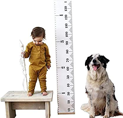 Amazon Kids Baby Height Growth Chart Roll Up Wood Frame Fabric