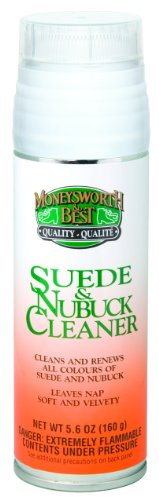 5.6 Ounce Garment - Moneysworth & Best Suede & Nubuck Cleaner, 5.6-Ounce