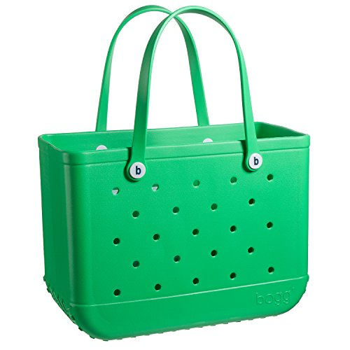 BOGG BAG X Large Waterproof Washable Tip Proof Durable Open Tote Bag for the Beach Boat Pool Sports 19x15x9.5 (X Large, GREEN with envy ()