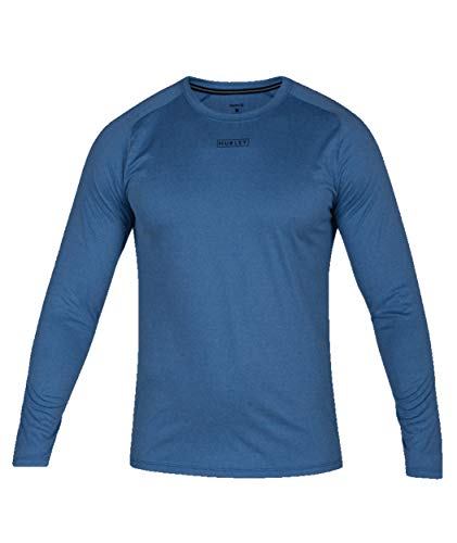 - Hurley Men's Quick Dry Long-Sleeve T-Shirt Rash-Guard, Team Royal Heather, M