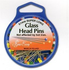 Sew Easy Pins 51mm - Glass Head Pins For Quilting/Patchwork by Sew Easy