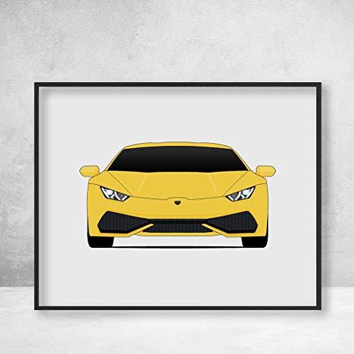 Lamborghini Huracan Poster Print Wall Art Decor Handmade LP 640-4 580-2 Coupe Avio Spyder Performante