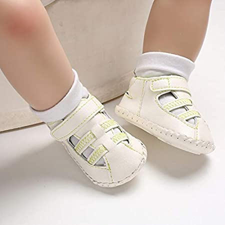 Cloudro Baby Closoed Toe Sandals Prewalker Boys Girls Crib Shoes for 0-18 Months