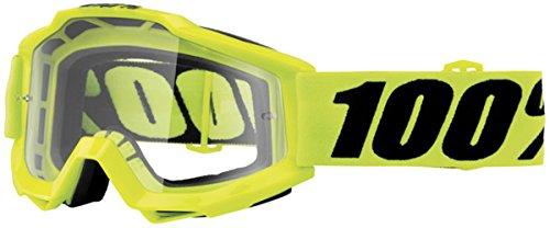 100% Accuri OTG Adult Off-Road Goggles - Fluorescent Yellow/Clear Lens/One ()