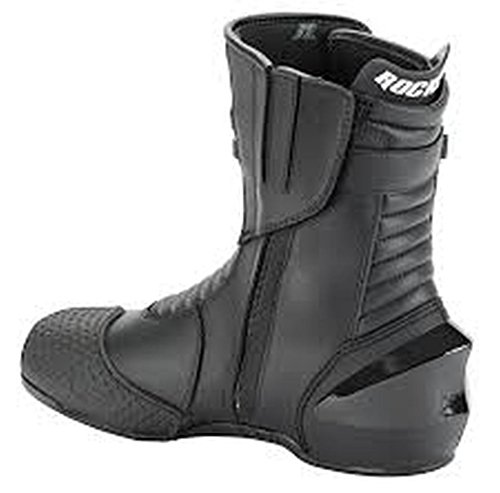 (Joe Rocket Super Street RX14 Men's Leather Motorcycle Riding Boots (Black, Size 8) )