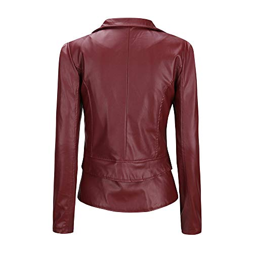 Red Npradla Solid Manteau Casual Femme Longues Live Manches BSXXIrq