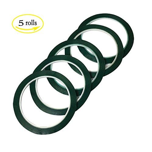LGEGE 5 rolls green Graphic Chart Tape / Artist Tape (Width: 3mm, 164ft per roll)