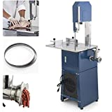 ARKSEN 2-in-1 Freestanding Meat Band Saw & Grinder Dual Electric Sausage Maker Grind, 550w, 3/4HP, (2 Free Blades)