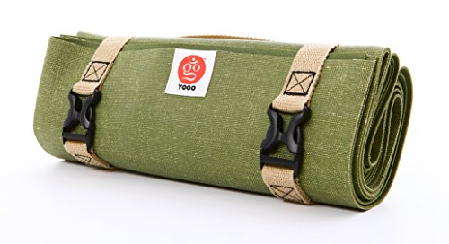 Ultralight Travel Yoga Mat, Folding with Integrated Straps and Handle for Carry and Wash