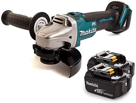 18 V Makita DGA504Z 18V Brushless Angle Grinder 125mm with 2 x 3Ah Batteries