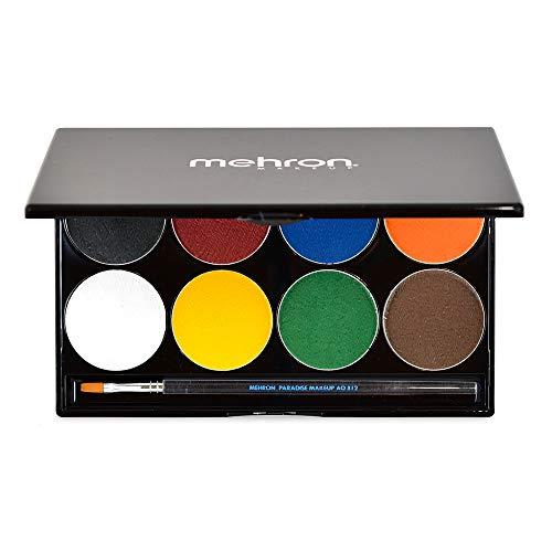 Mehron Makeup Paradise AQ Face & Body Paint 8 Color Palette (Basic) – Face, Body, SFX Makeup Palette, Special Effects…