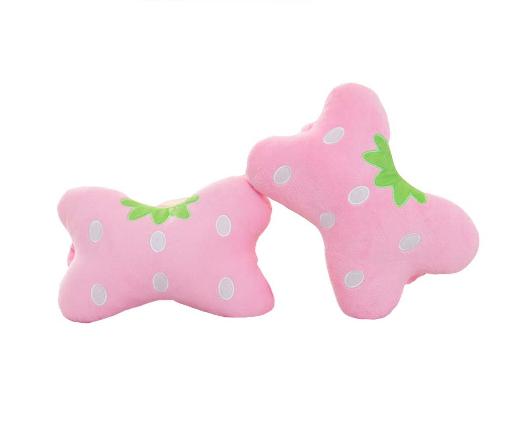 Sweet Strawberry Car Neck Pillows Car Headrest Pillows 2PCS
