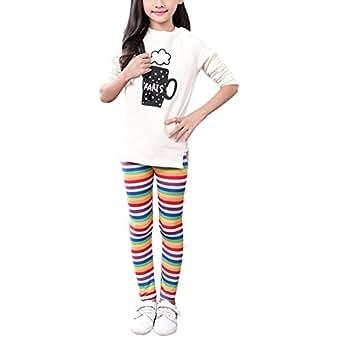ea156dfb7ee6b6 Amazon.com: Weixinbuy Kid Girls Floral Print Leggings Slim Long ...