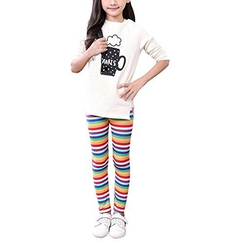 Weixinbuy Kid Girls Floral Print Leggings Slim Long Pants Tights Trousers ()