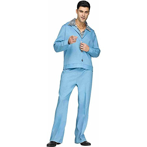 Fun World Men's 70s Leisure Suit Costume, Blue Standard -
